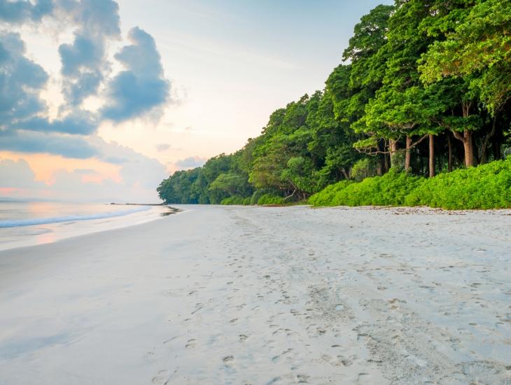 Radhanagar Beach At Andaman and Nicobar Island, India